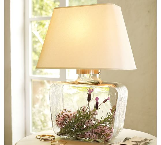 Pottery Barn Atrium Lamp: Fillable Glass Lamps